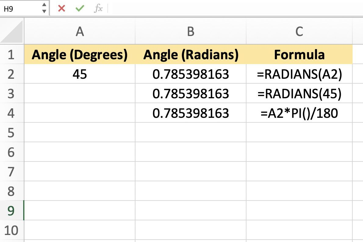 Radian Degree Worksheet