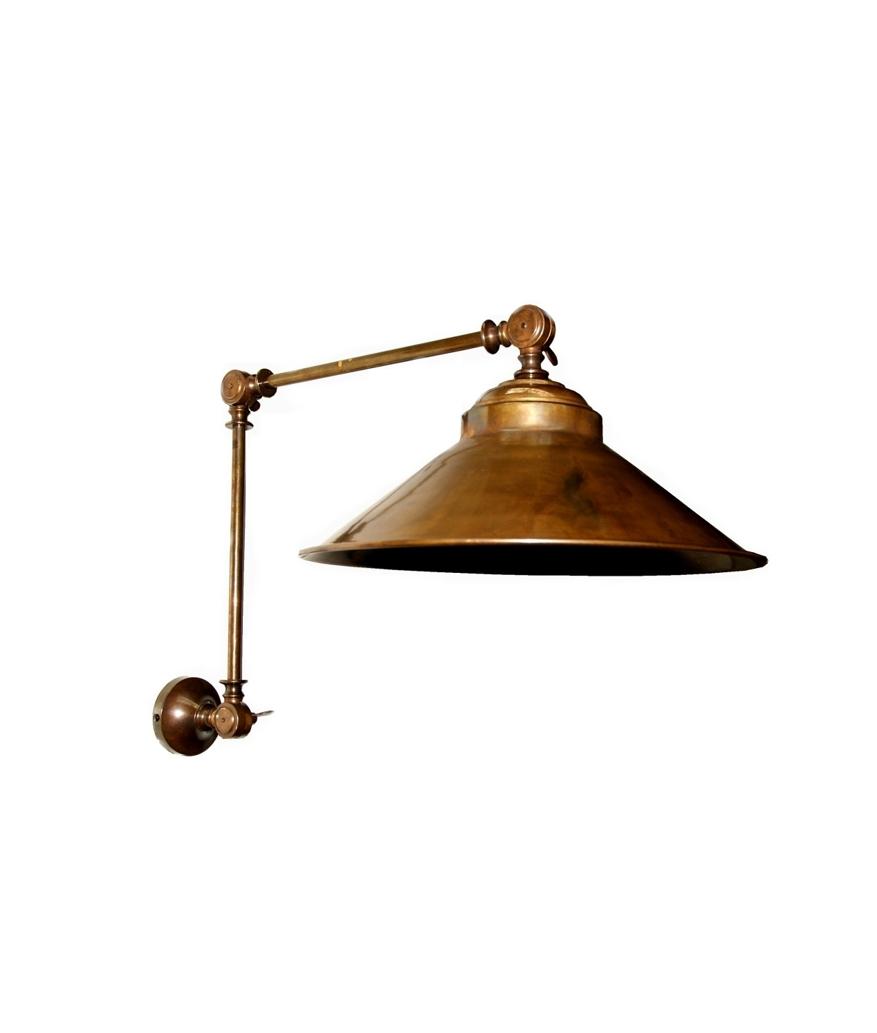 Long Reach Adjustable Brass Wall Light Available In Three