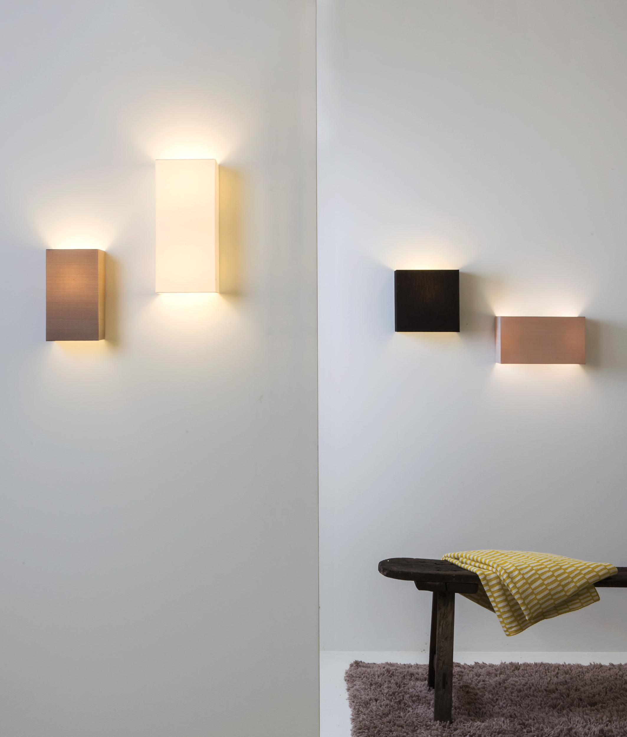 Simple Fabric Tall Wall Light Up Amp Down Lighting White