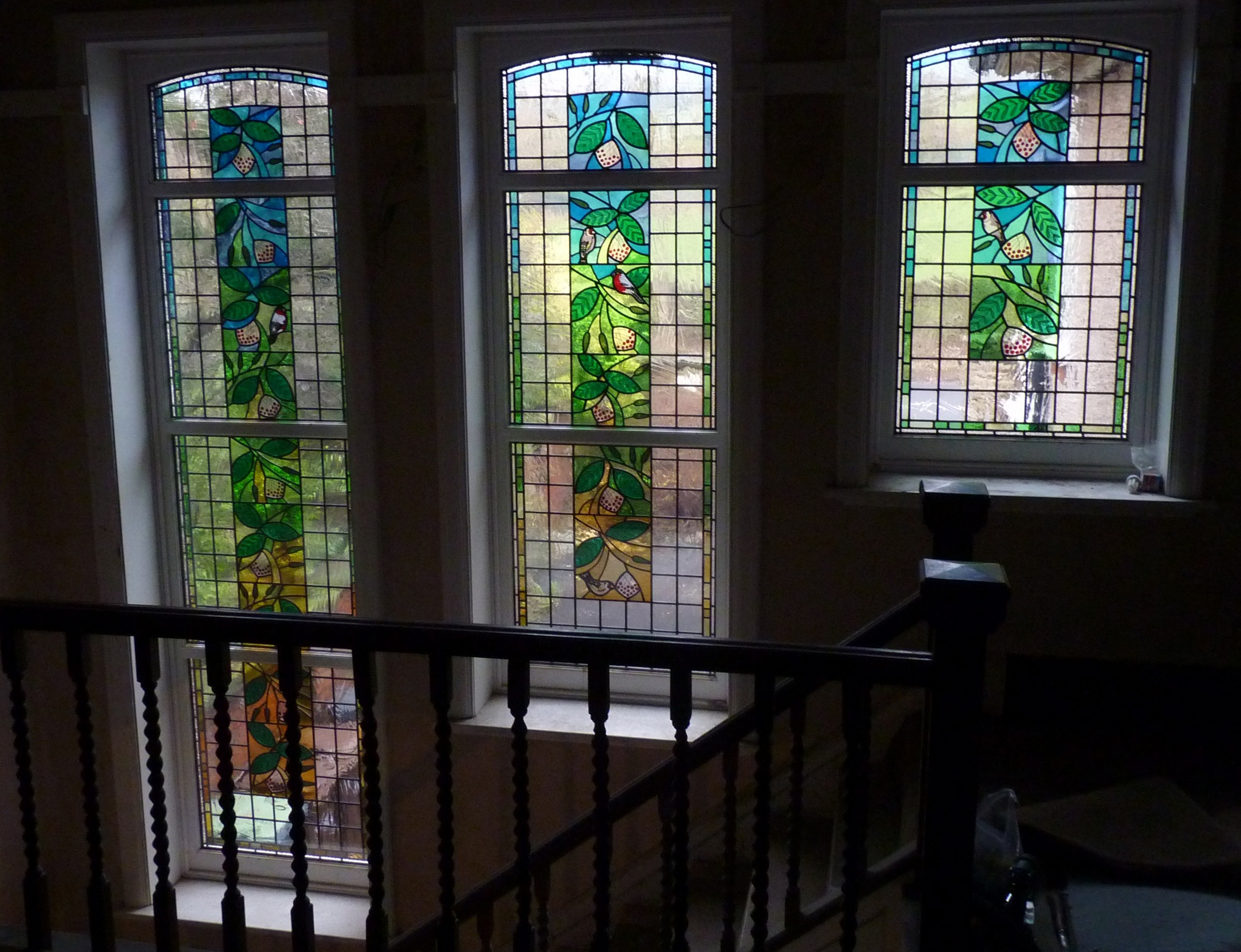 1920 S Staircase Window Stained Glass Artists Designers   Staircase Window Glass Design   Geometric   Architecture   Flower   Residential   Glass Brick