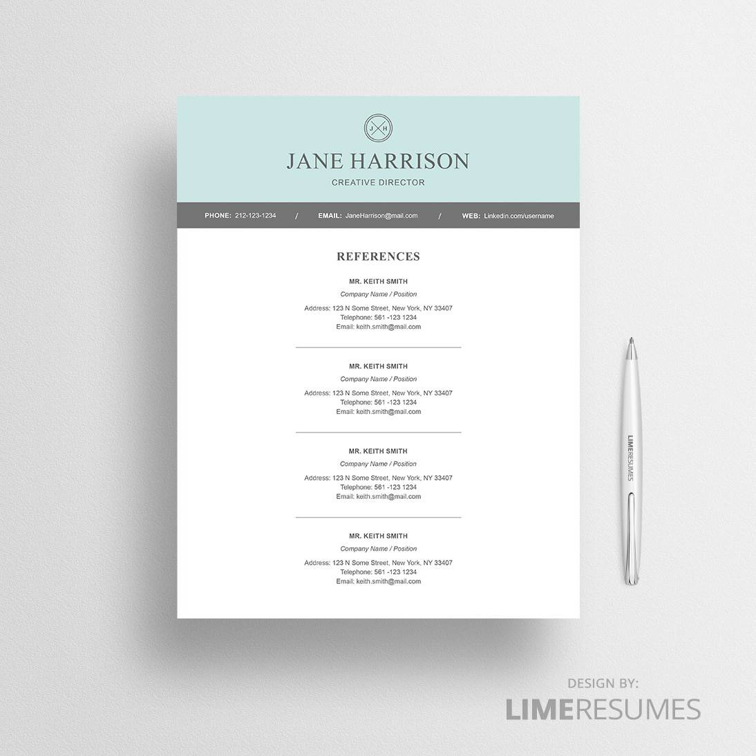 modern reference page for resume   Fast lunchrock co modern resume template for microsoft word limeresumes