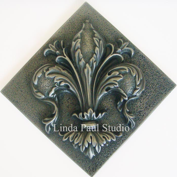Fleur De Lis Tile Backsplash