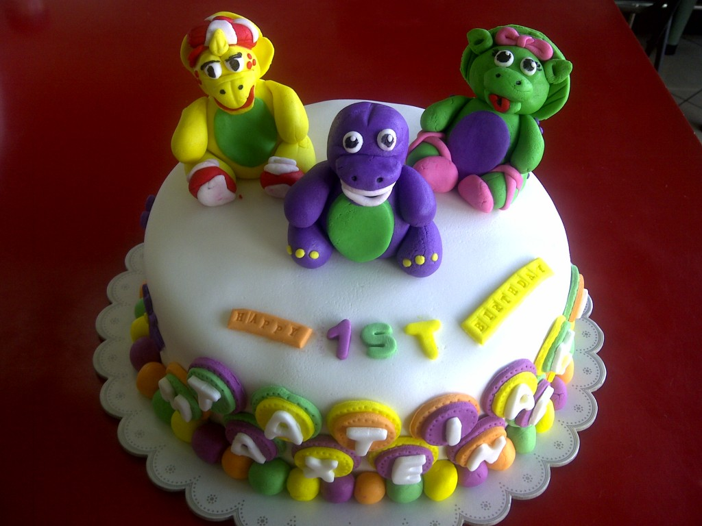 Barney Cakes Decoration Ideas Little Birthday Cakes