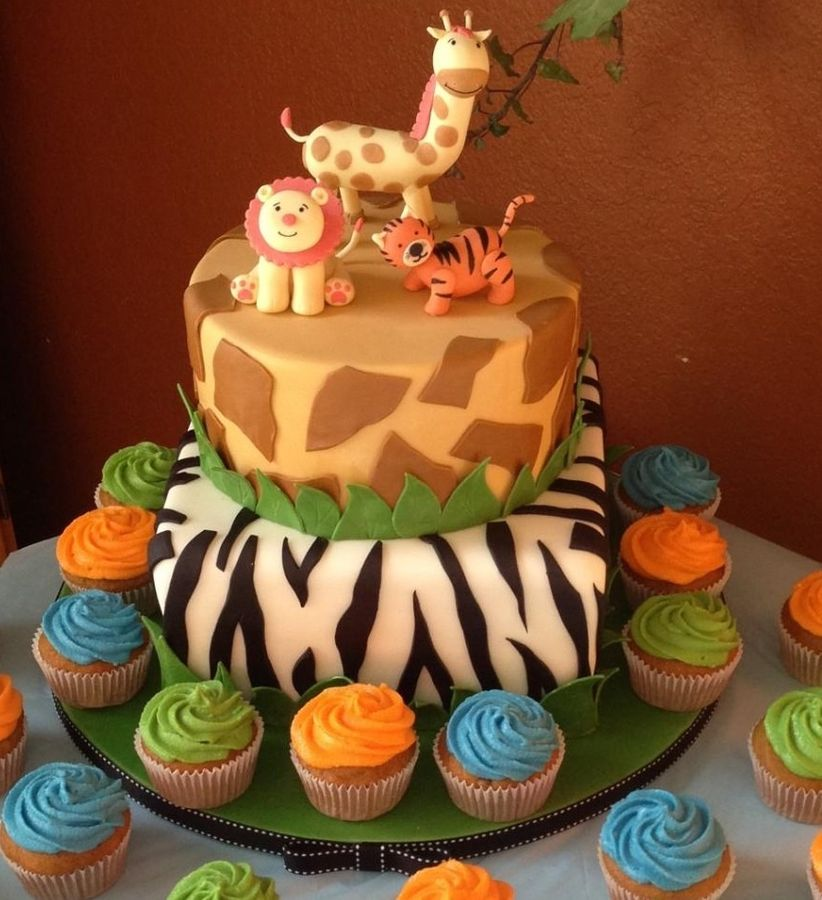 Safari Themed Baby Shower Cakes