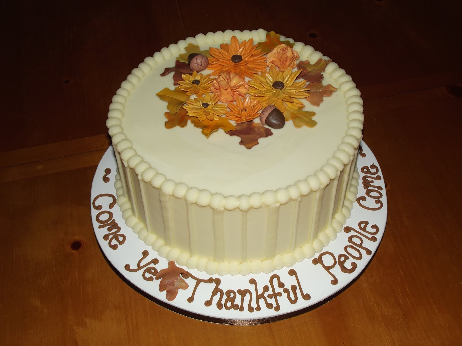 Thanksgiving Cakes     Decoration Ideas   Little Birthday Cakes Thanksgiving Cake Decorations