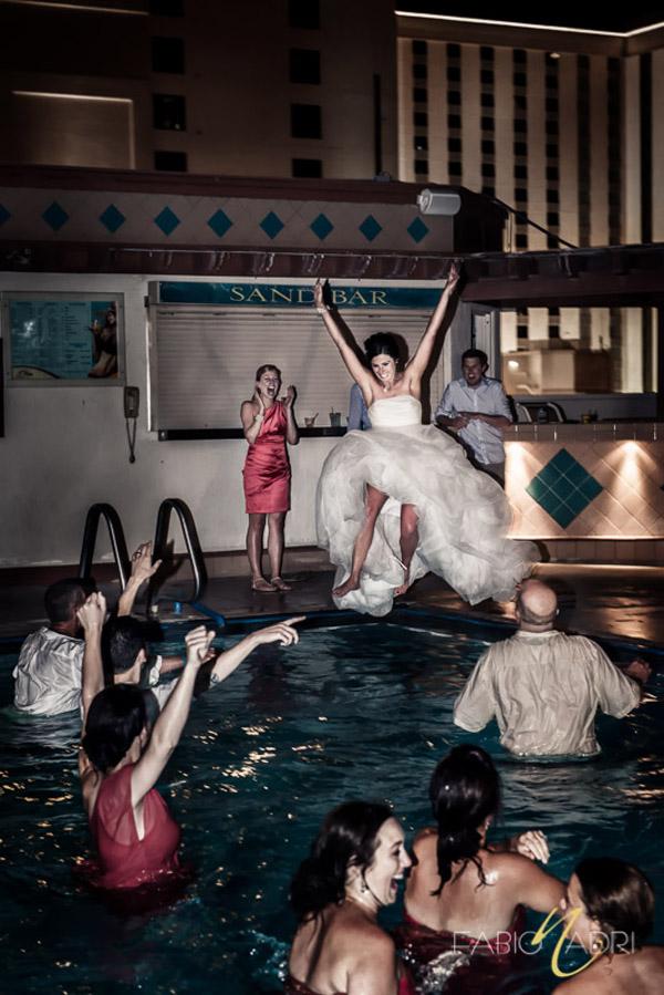 Fantastic Rooftop Poolside Wedding In Downtown Vegas Plaza Hotel 187 Little Vegas Wedding
