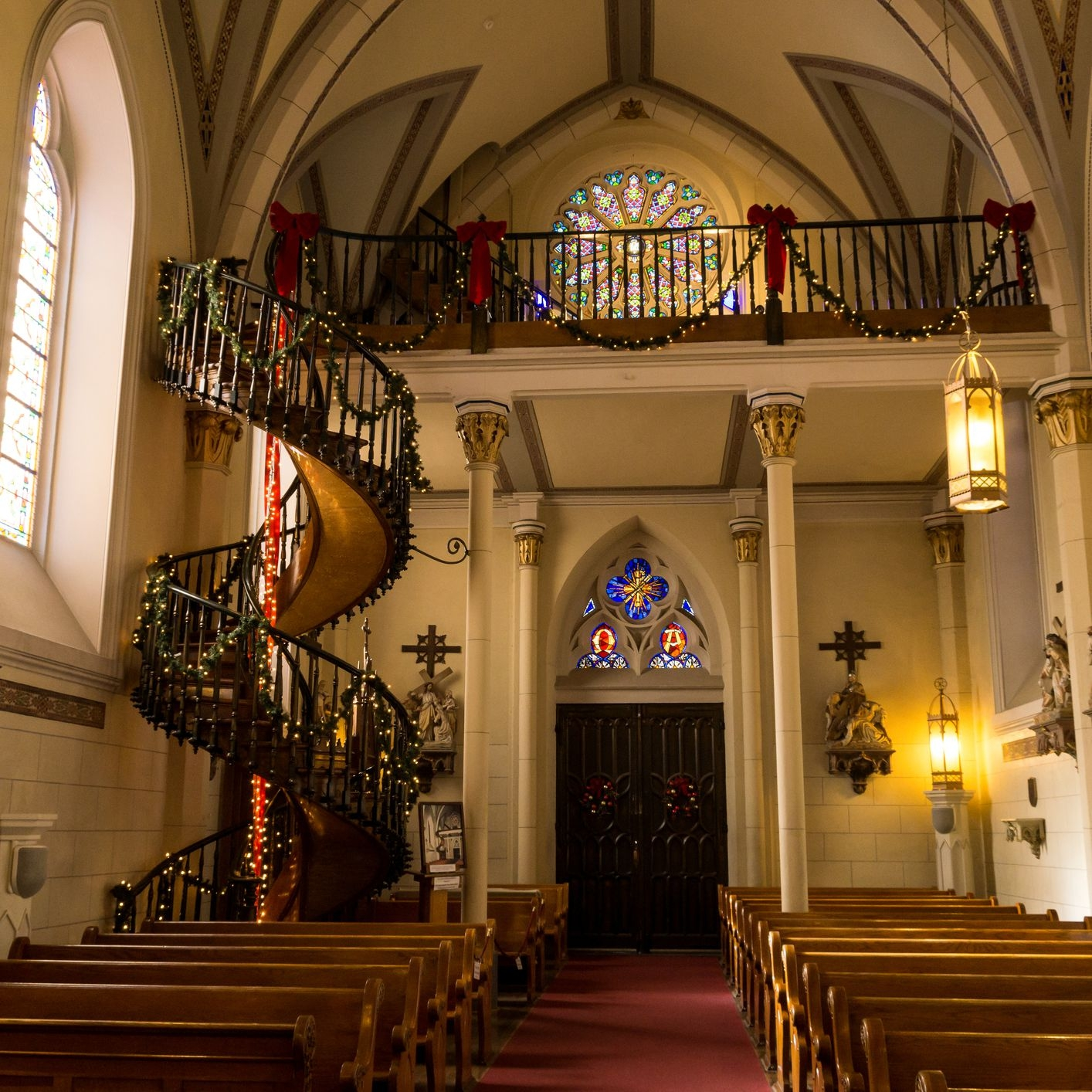 The Loretto Chapel S Miraculous Staircase   Chapel With Spiral Staircase   Catholic Church   Stairway   Miraculous   Choir Loft   Sante Fe