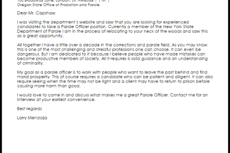 Free Professional Resume » sample letter to parole board from inmate ...