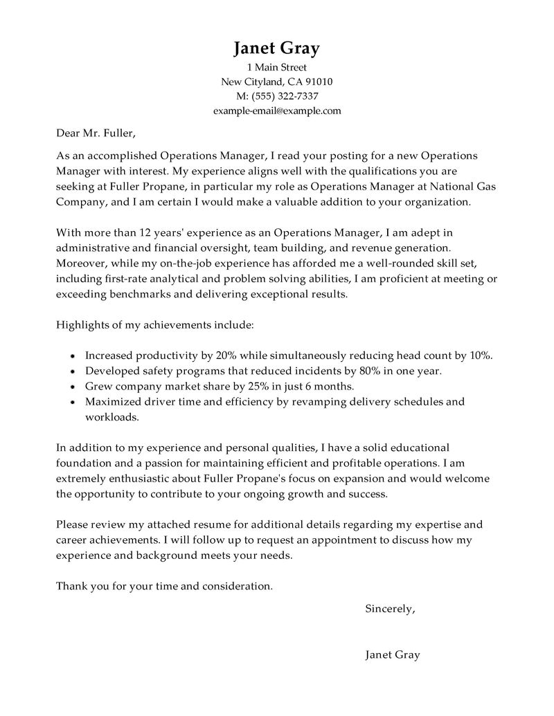 purchase manager cover letter - Boat.jeremyeaton.co