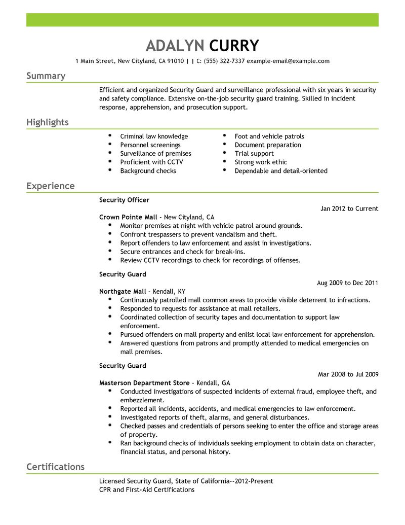 Personal Security Officer Job