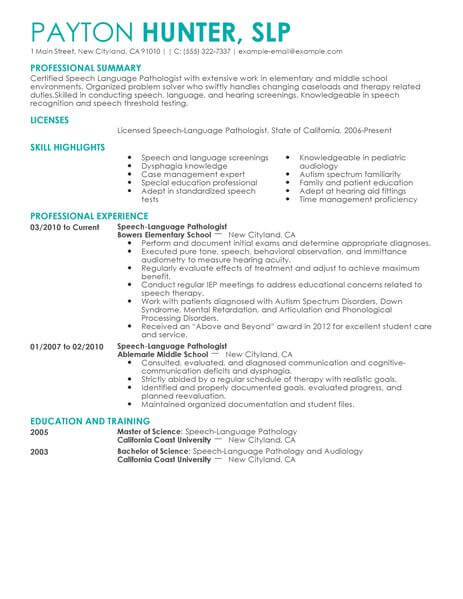 Career Change Resume Clinical
