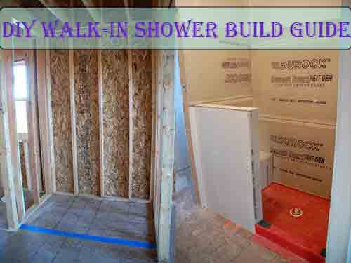 Building Walk Shower Scratch