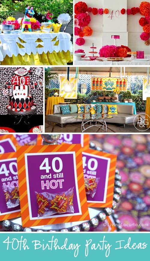 40th Birthday Theme Ideas
