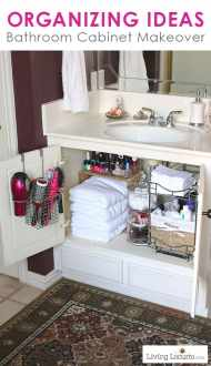 Quick Bathroom Organization Ideas   Before and After Photos Quick Organizing Ideas for your Bathroom  Easy Cabinet Bathroom  Organization Makeover with Before and After