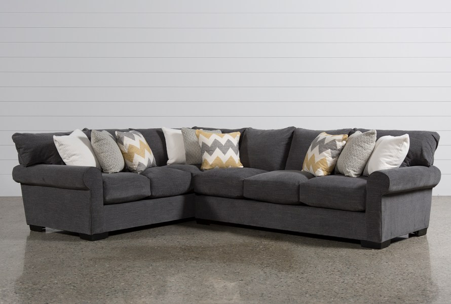 Sectionals   Sectional Sofas   Living Spaces Aurora 2 Piece Sectional