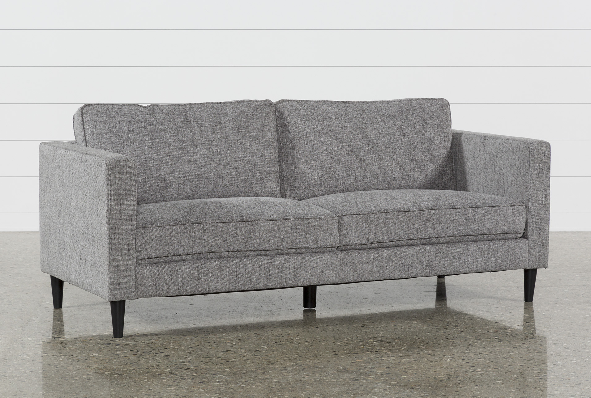 Cosmos Grey Sofa   Living Spaces Cosmos Grey Sofa  Qty  1  has been successfully added to your Cart