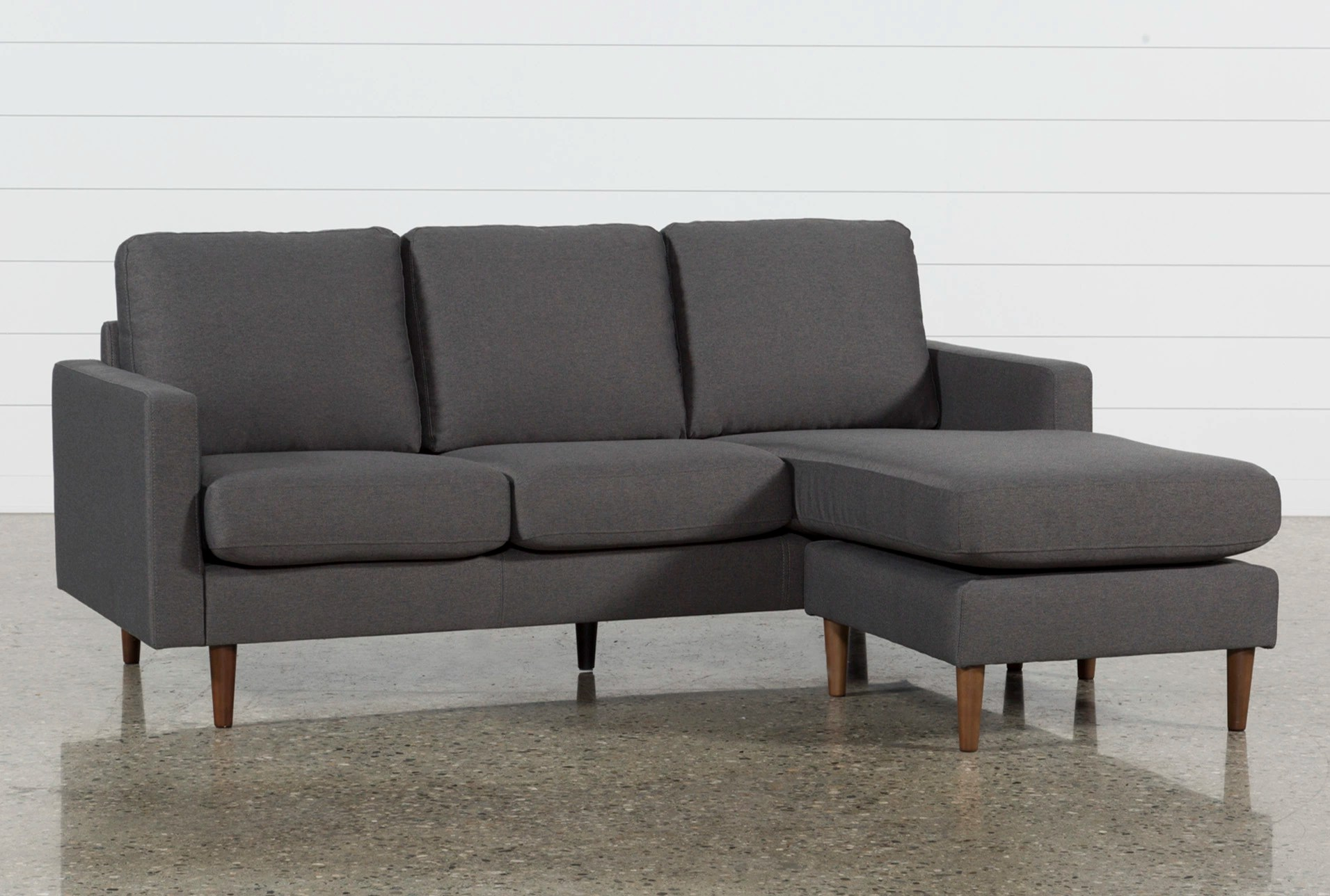 Chaise Sofas   Living Spaces Display product reviews for DAVID DARK GREY REVERSIBLE SOFA CHAISE