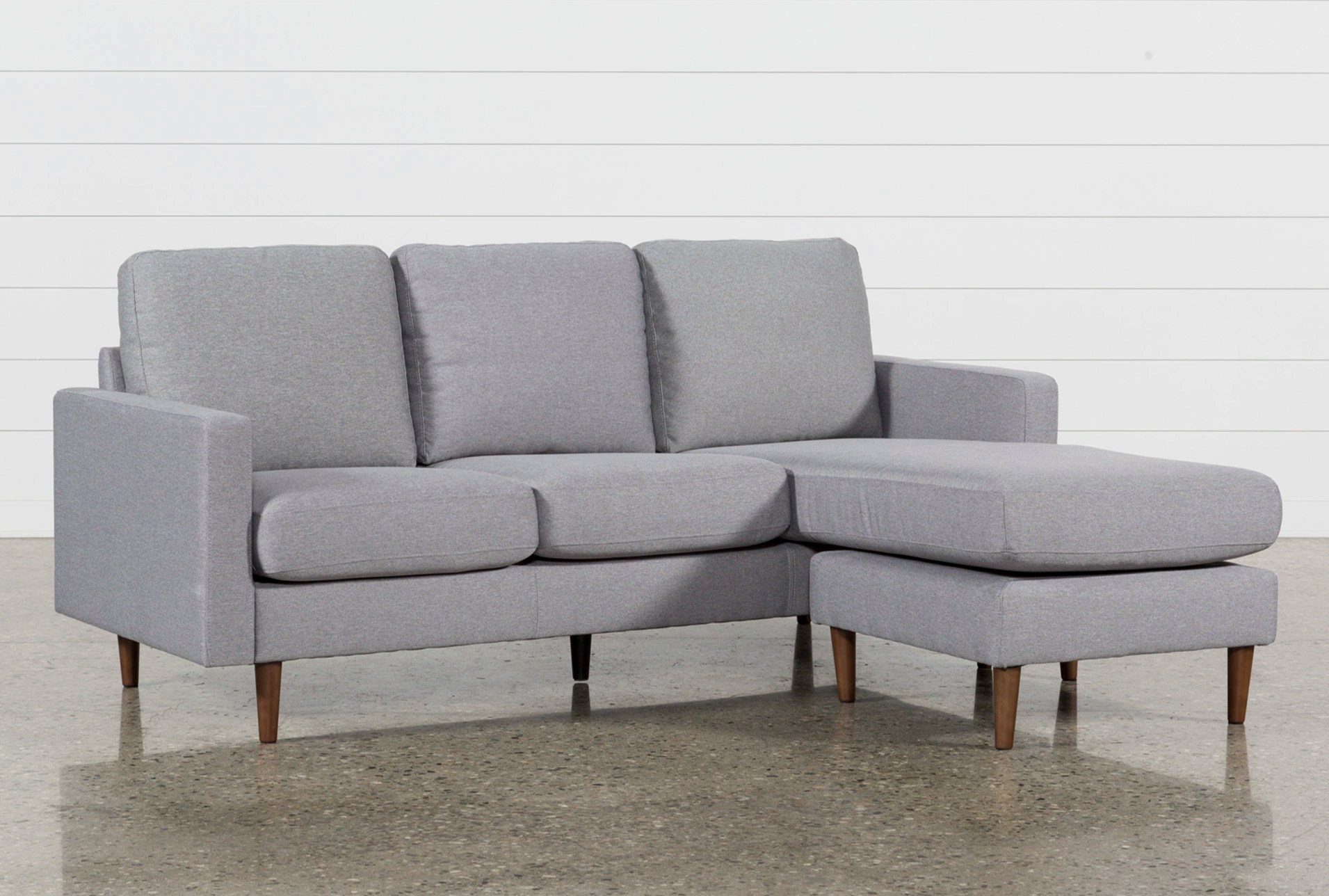 Chaise Sofas   Living Spaces Display product reviews for DAVID GREY REVERSIBLE SOFA CHAISE