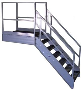 Galvanized Stairs Metal Stairs Osha Prefab Stairways | Used Steel Stairs For Sale | Hinged | Portable | U Shaped | Garage | 8 Foot