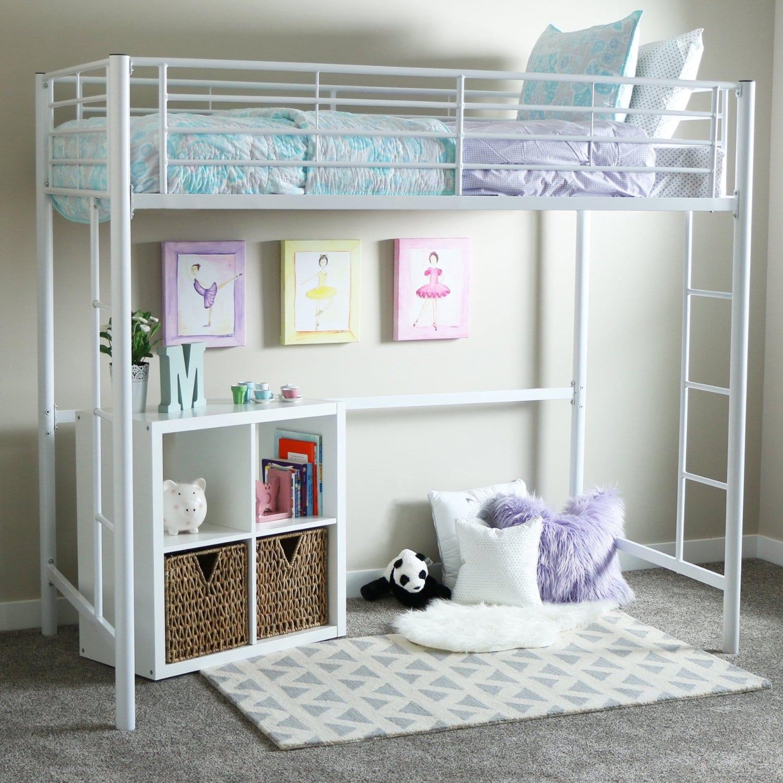 White Loft Beds For Girls With Desk Loft Bed Deals