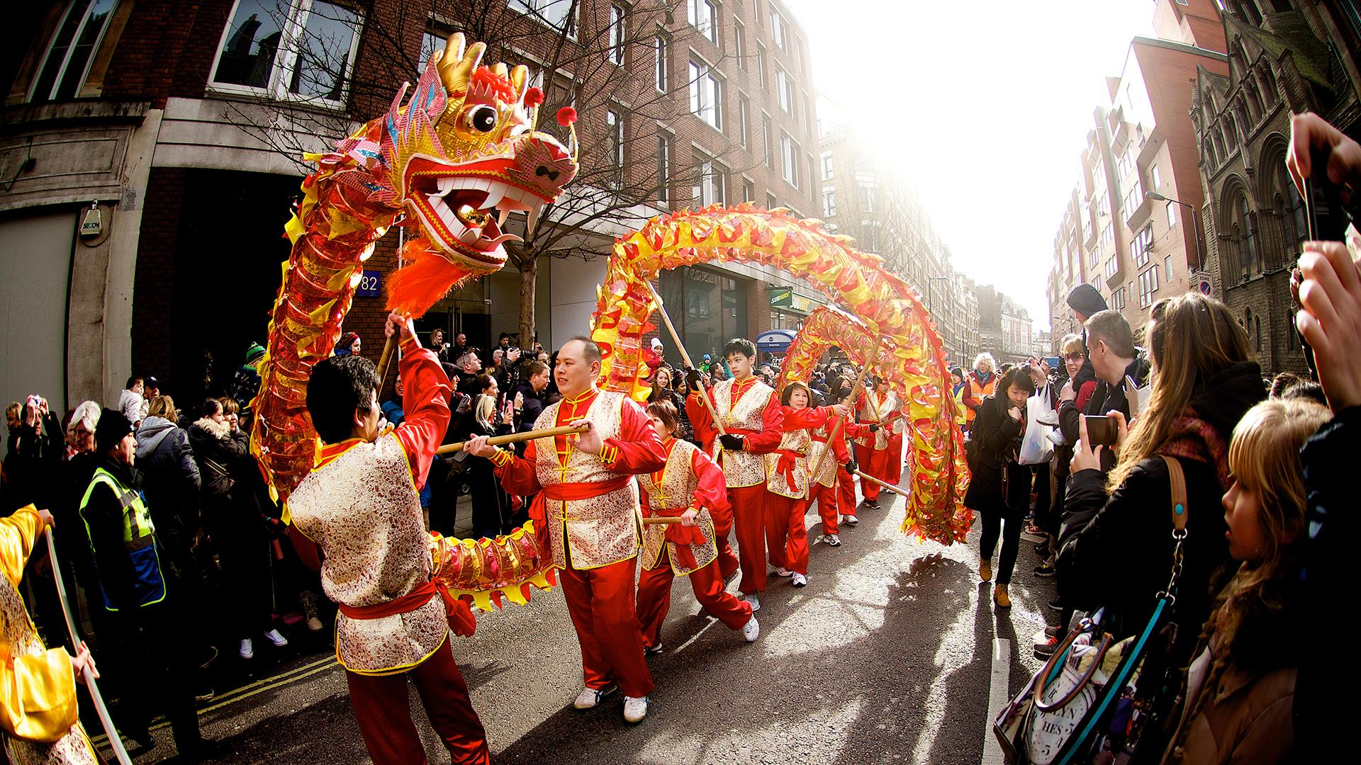 The Chinese New Year celebration in London    this coming Sunday     Event