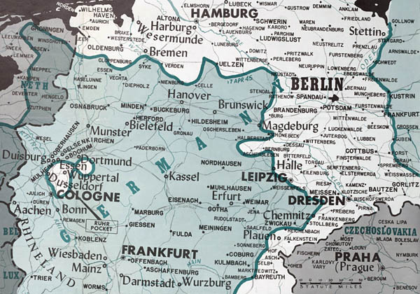 Maps of the European Fronts  April 1945      Lone Sentry Blog WW2 Europe Map of War Fronts in April 1945
