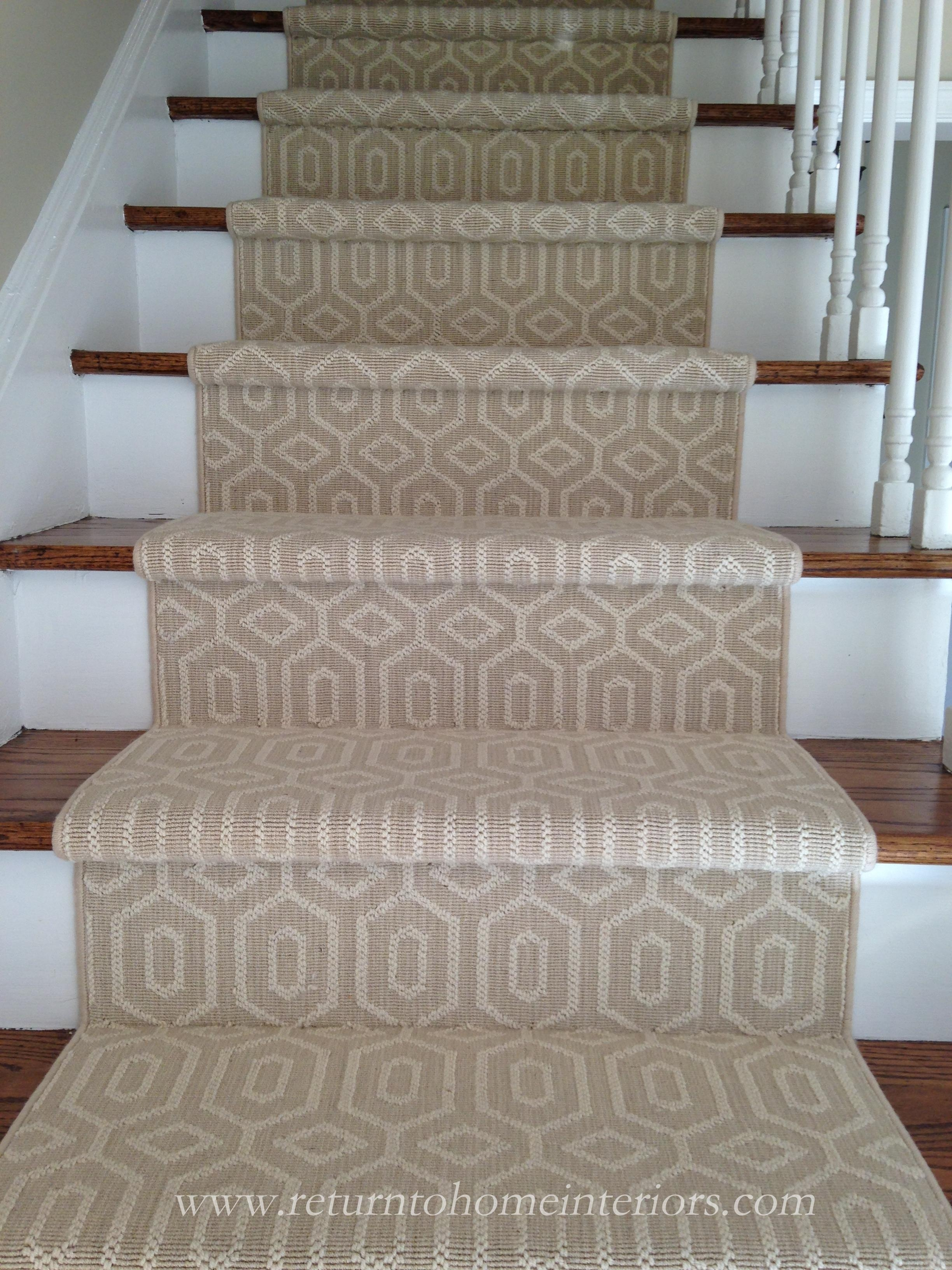 Choosing A Stair Runner Some Inspiration And Lessons Learned | Printed Carpet For Stairs | High Traffic | Gray | Karastan Patterned | Georgian | Middle Open Concept
