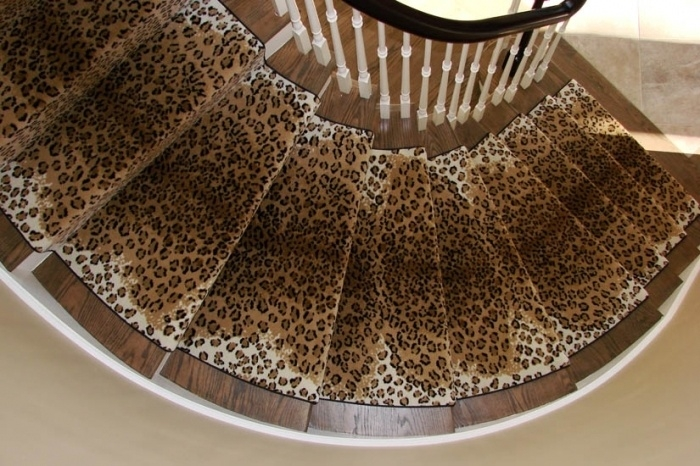 Choosing A Stair Runner Some Inspiration And Lessons Learned   Leopard Carpet On Stairs   Zebra Print   Giraffe Print   Milliken   Patterned   Antilocarpa