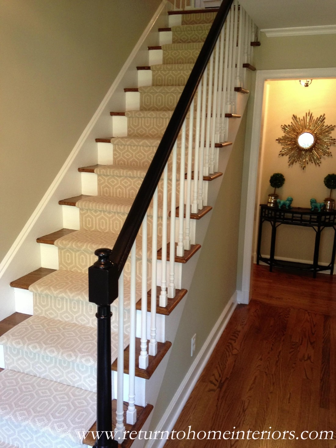 Choosing A Stair Runner Some Inspiration And Lessons Learned | Carpet Runners For Stairs | Brown | Herringbone | Blue | Design | Wool