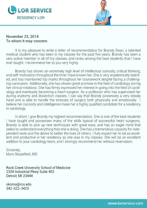 Example Good Standing Letter School