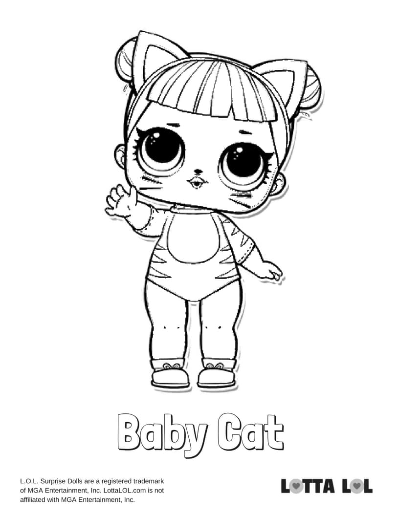 Baby Cat Lol Surprise Doll Coloring Page Lotta Lol