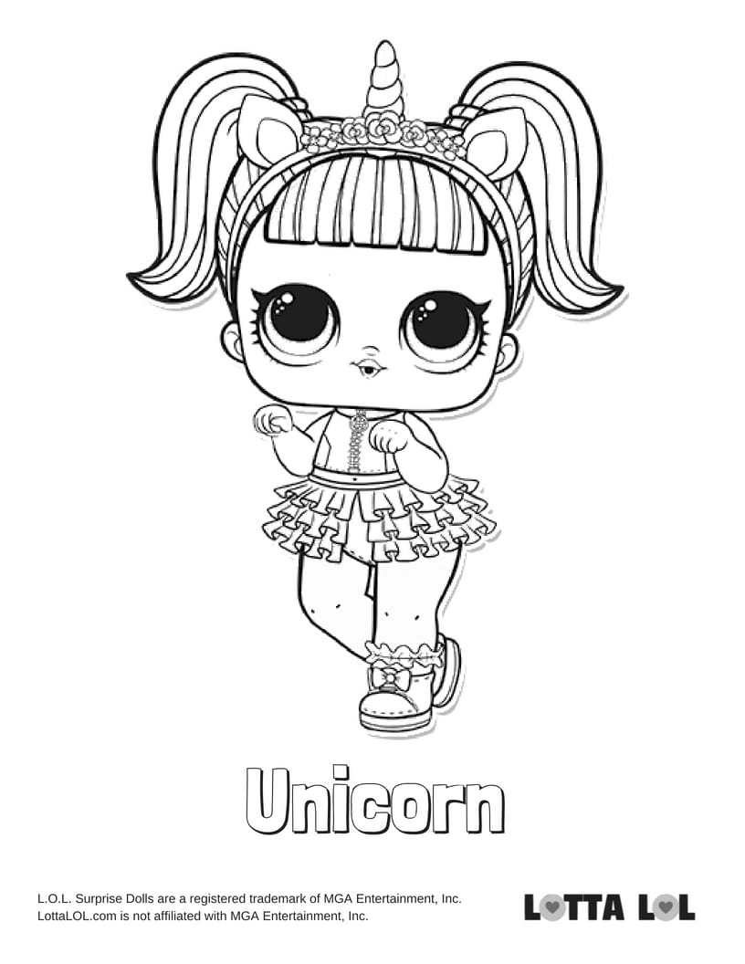 Lol Surprise Unicorn Girl Coloring Pages