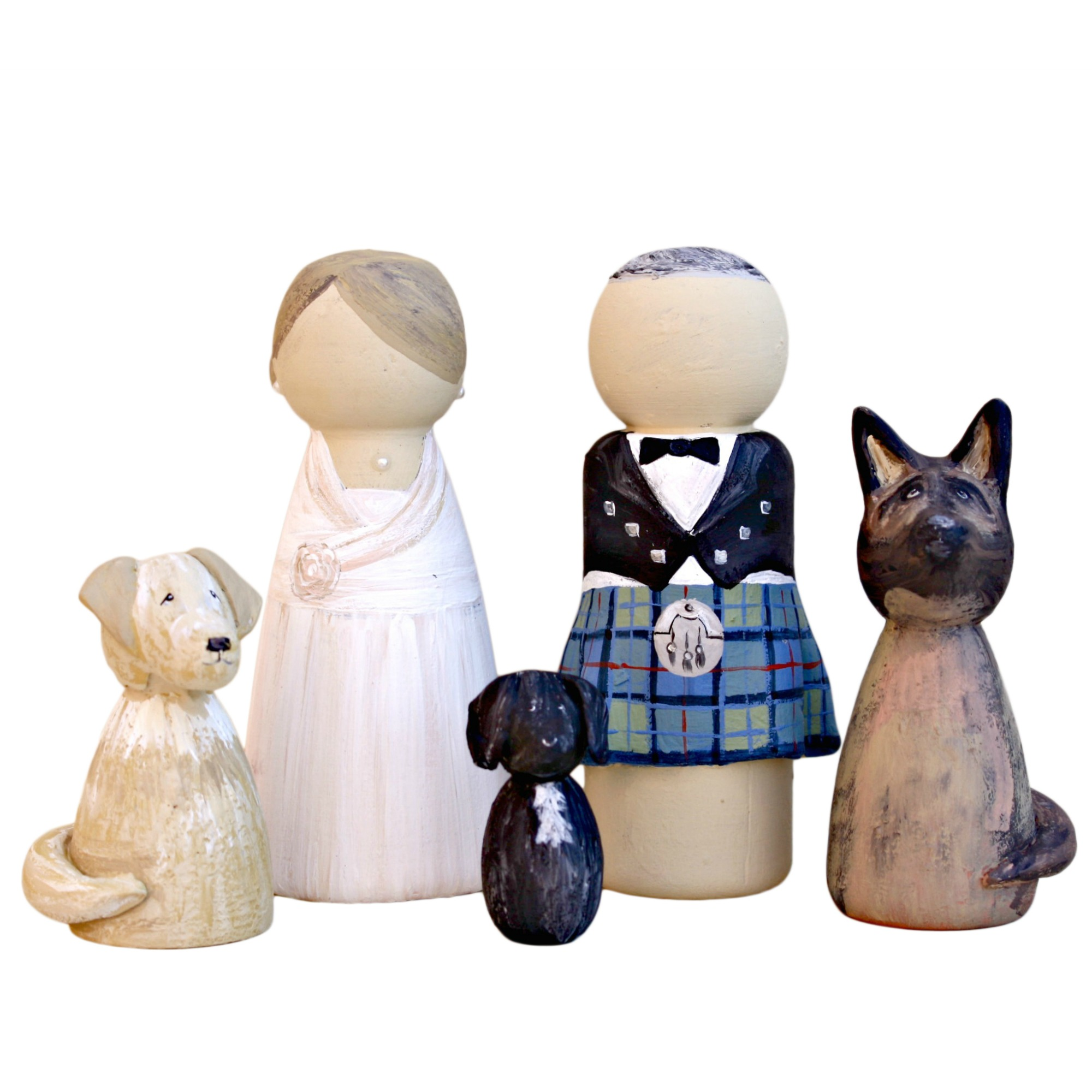 Bride Groom and Dog Wedding Cake Topper   Lotty Lollipop     Dog Wedding Cake Topper