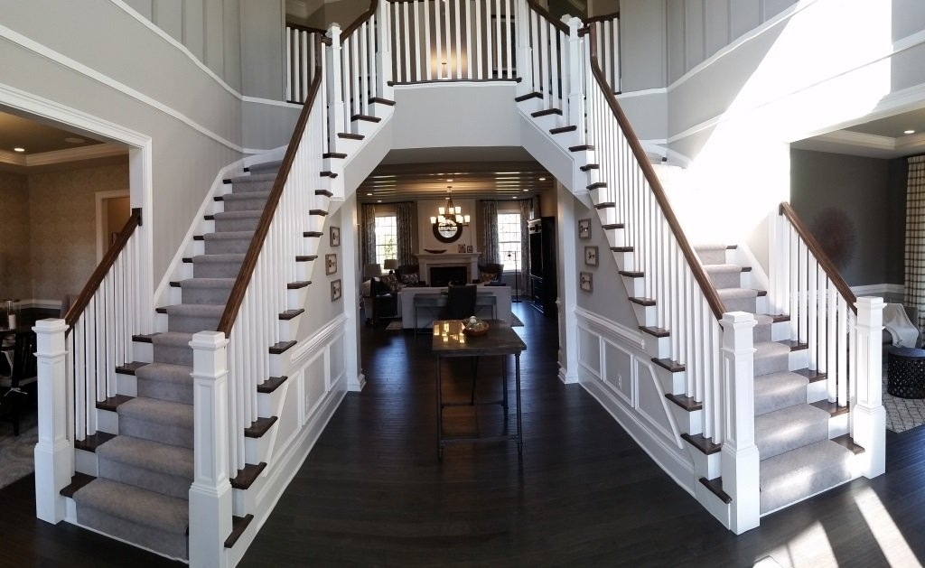 Home Loudoun Stairs   Handrails For Stairs Interior   Spiral Stair   Industrial   Modern   Oak   Rustic