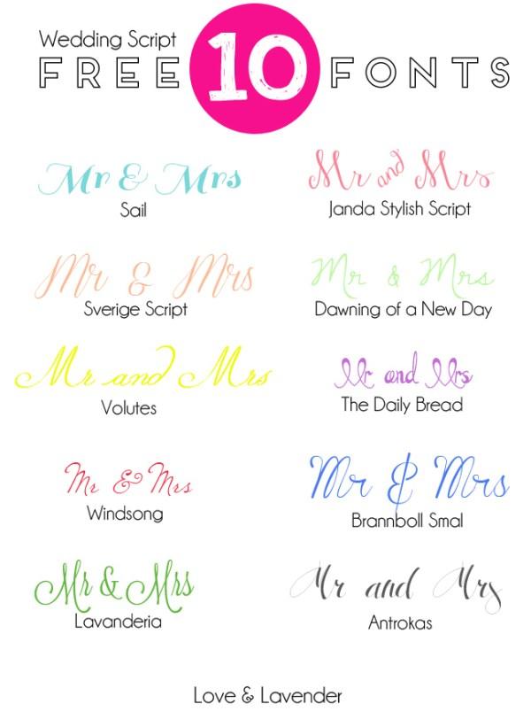 free wedding fonts # 51