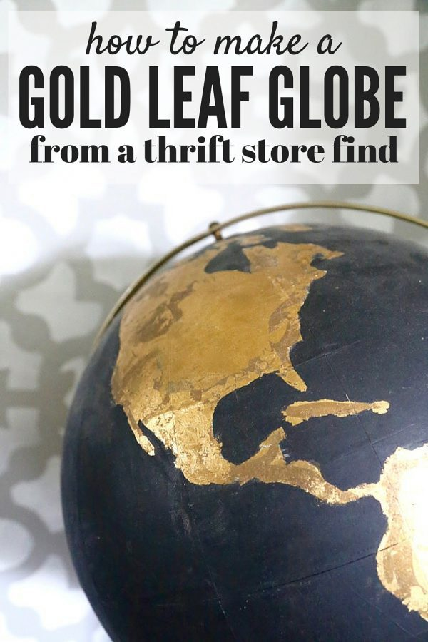 DIY Black Globe With Gold Accents    Love   Renovations How to take an ugly thrift store globe and turn it into something amazing   This