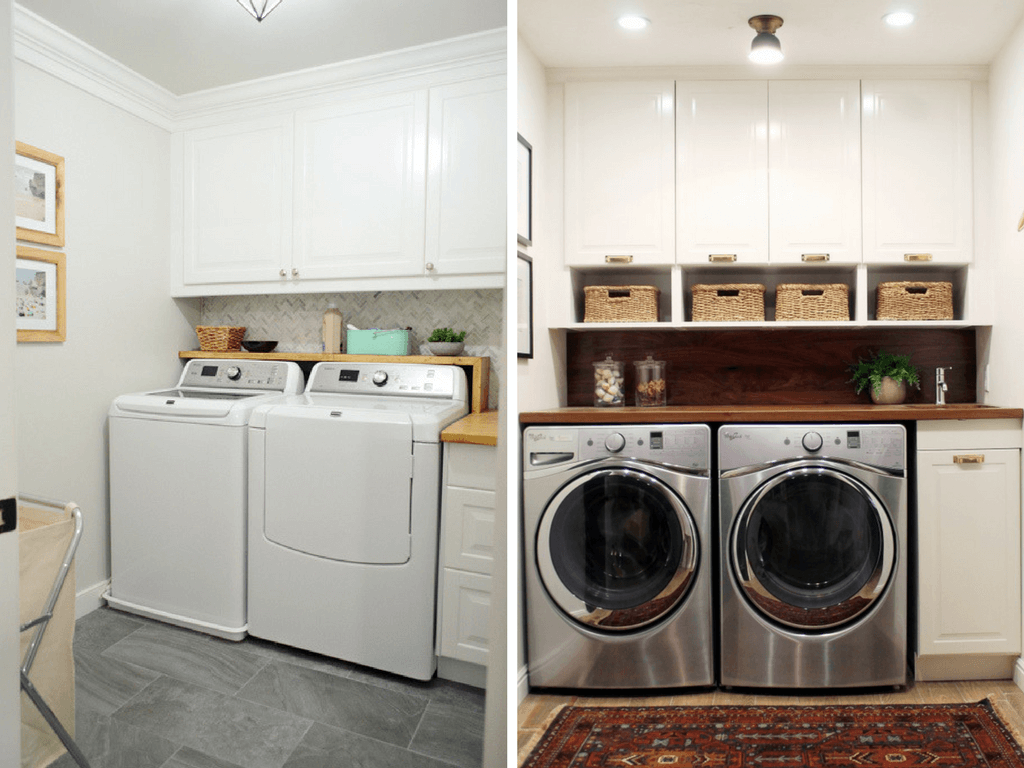 Small Laundry Room Ideas  Organization   More     Love   Renovations Ideas for decorating small laundry rooms