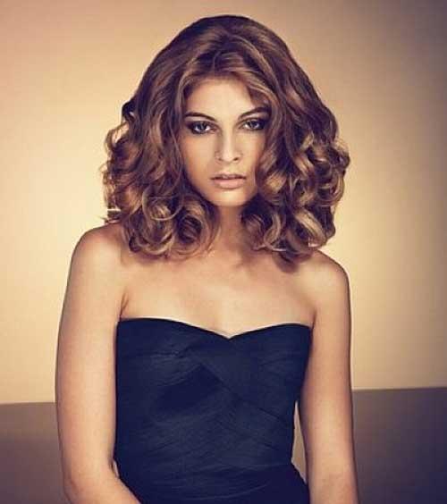 Curly Hair Medium Length Hairstyles Black Woman