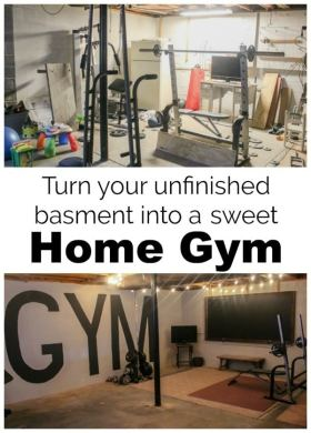 Unfinished Basement to Industrial Home Gym on a  100 Budget   Lovely     How we created an industrial style home gym in our unfinished basement on a  tiny budget