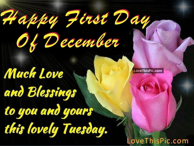 1st Day December Quotes