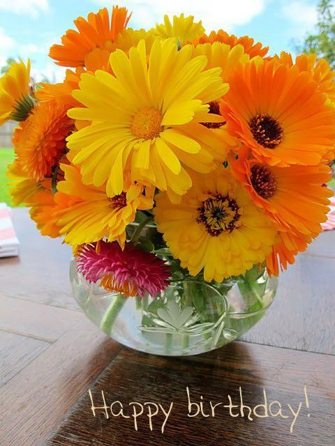 Happy Birthday Flowers Pictures Photos And Images For