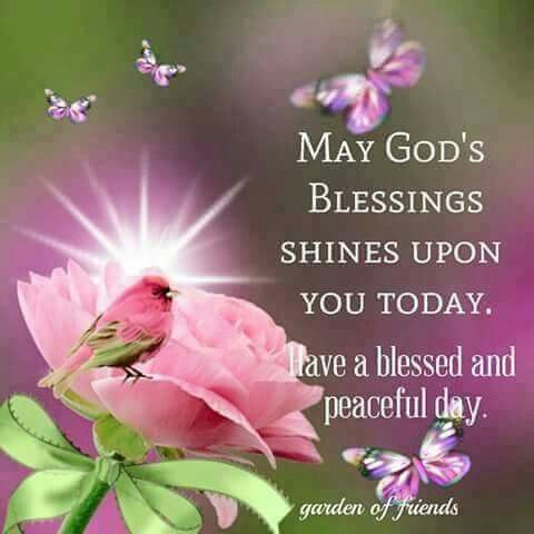 May God's Blessings Shine Upon You Today And Everyday ...