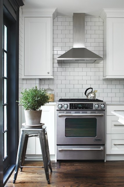 White Splashback Kitchen Grey