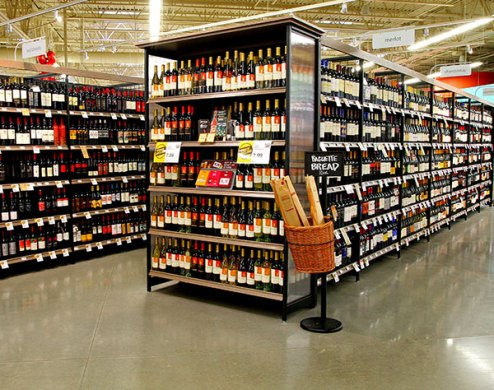 Wine and Spirits Store Shelving   Lozier Examples of Our Wine and Spirits Shelving