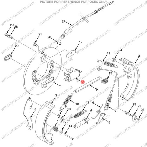 Forklift Diagram Wheel Brake And Hyster Parts