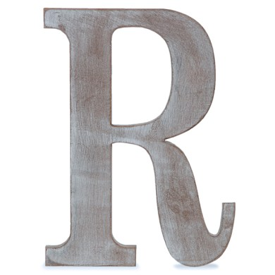 Wood Block Letter   Charcoal Grey 24in   R The Lucky Clover Trading Co  Wood Block Letter   Charcoal Grey 14in
