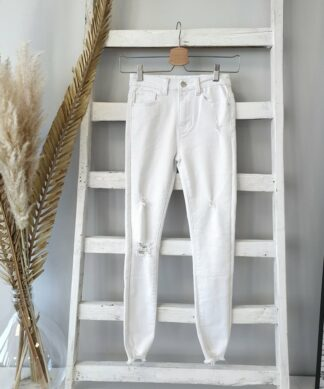 Skinnyjeans MARIA – white destroyed