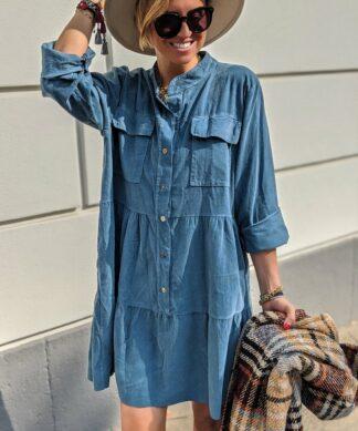 Tunikakleid BASIC CORD DRESS – versch. Farben
