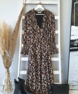 langes Kleid IDOL – Leoprint
