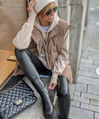 wattierte Steppweste STUFFED SOFT – mocca SALE